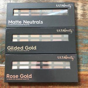 New Ulta Beauty Eye Shadow Palette Set of 3